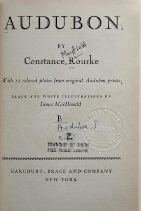 Audubon title page