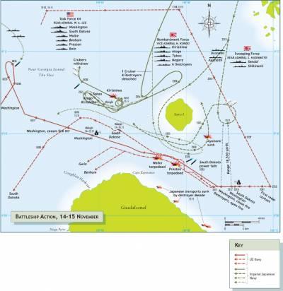 War At Sea map