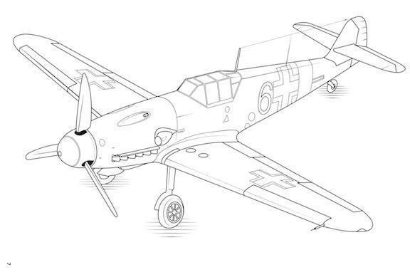 Classic Fighters Colour plane